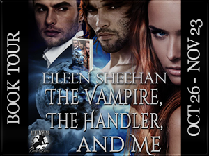 The Vampire, The Handler and Me Button 300 x 225